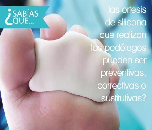 ortesis, silicona, podologia, sitges